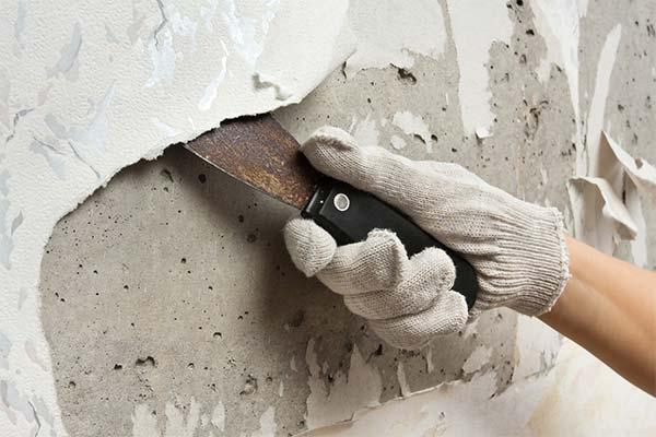 Как снять старые обои с бетонной стены