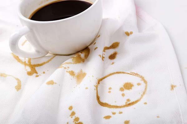 Как отстирать кофе с белой одежды